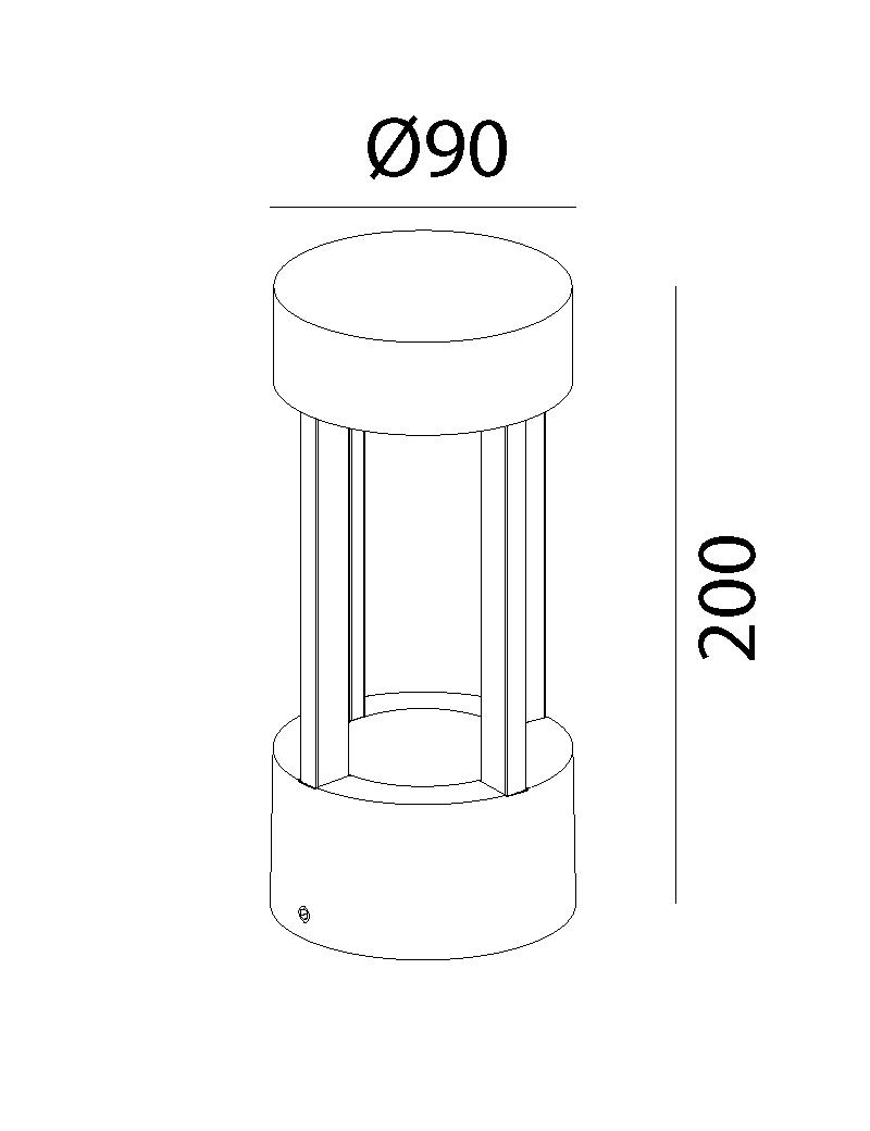 چراغ دیواری LED,COB بیرونی کد H110