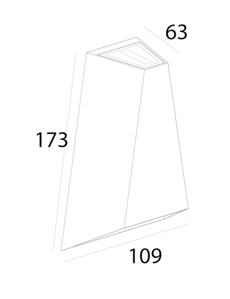 چراغ دیواری LED بیرونی کد H115