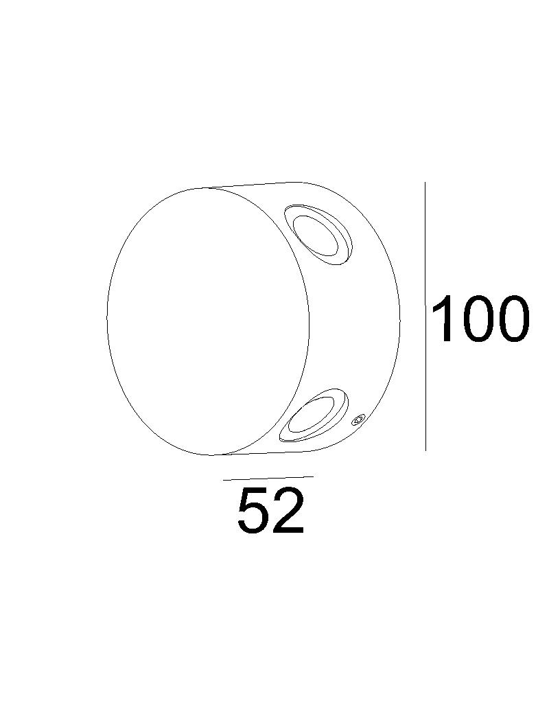 چراغ دیواری LED,SMD بیرونی کد H118