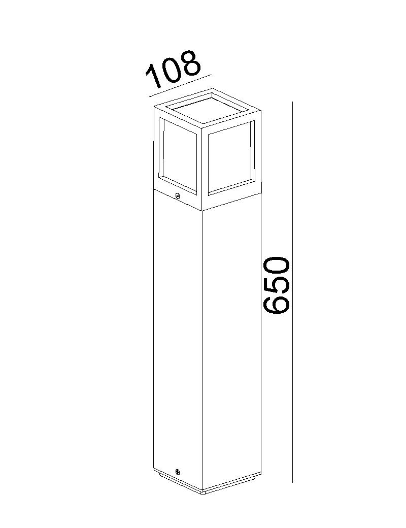 چراغ پایه بلند E27 بیرونی کد H136