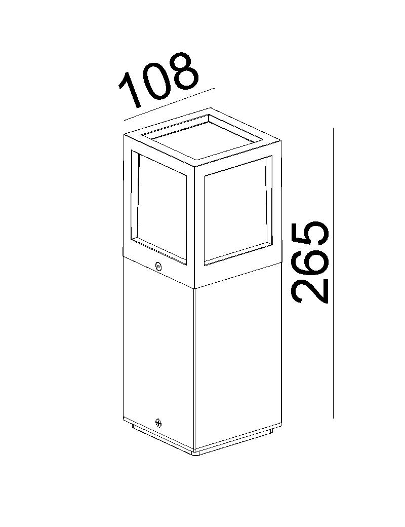 چراغ پایه کوتاه E27 بیرونی کد H137