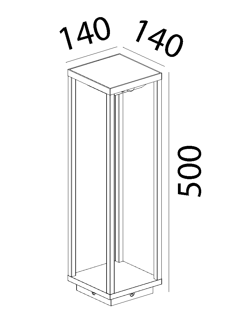 چراغ پایه بلند LED,COB بیرونی کد H148