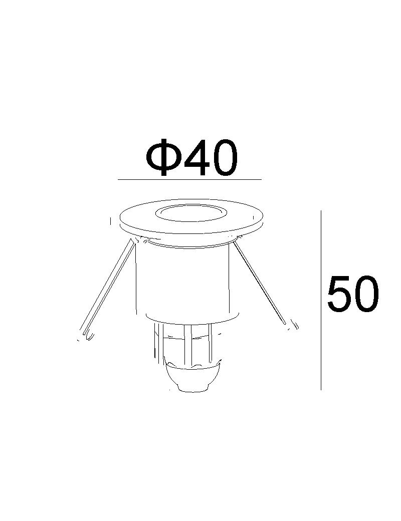 چراغ زیرپله ای LED,COB بیرونی کد H154