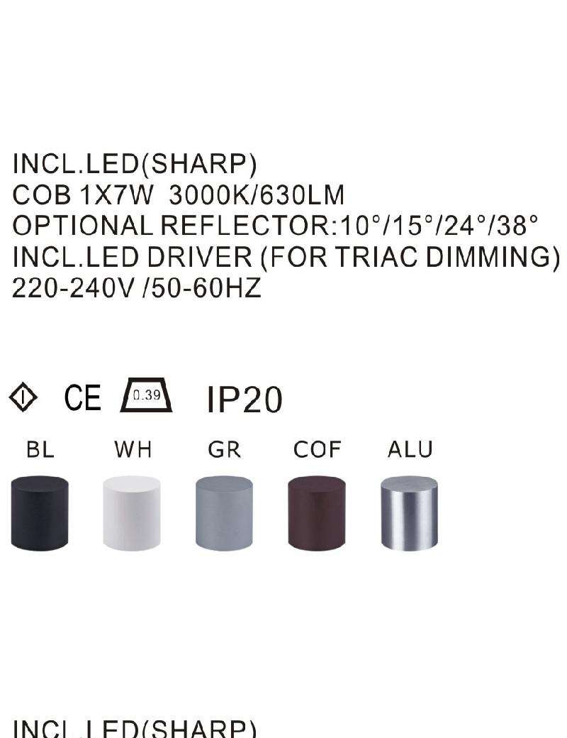 چراغ سقفی LED,COB داخلی کد LC49