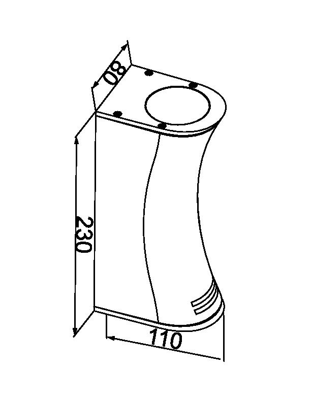 چراغ دیواری GU10 بیرونی کد G165/MSS/2