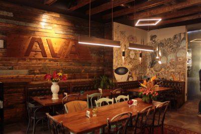 پروژه نورپردازی کافه آوا