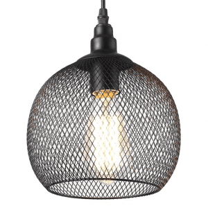 black-mesh-pendant-light