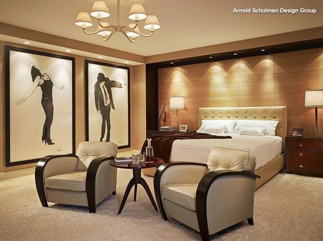 اتاق مدرن با نورپردازی لایه لایه