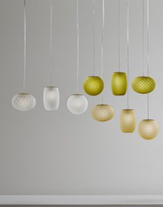 چراغ دکوراتیو داخلی شیشه ای و رنگی