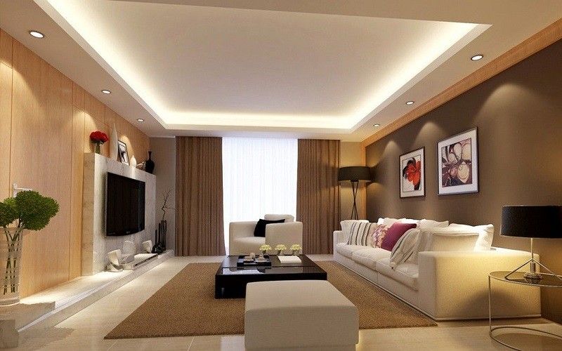 طراحی نورپردازی اتاق نشیمن