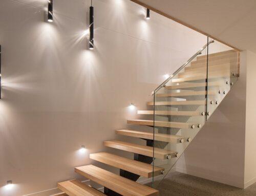 خلاقیت در روشنایی راه پله ها