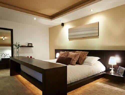 نورپردازی اتاق خواب با چراغ LED
